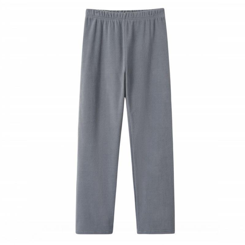 Men's Micro Fleece Pants Elastic Waist