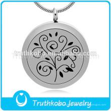 Huile essentielle arbre à thé huile diffuseur pendentif bracelets en acier inoxydable bijoux pour Aromathérapie Bijoux