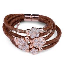 Bracelet fermoir magnétique en cuir véritable NH00777