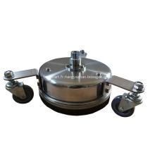 """Nettoyant de surface en acier inoxydable de 8 """"à 12"""" avec roues"""