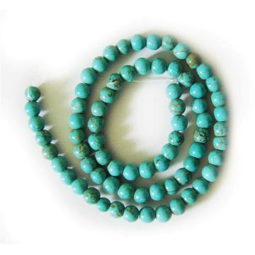 6MM Turquoise Round Beads