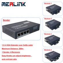 1 à 4 200m sur le câble d'extension VGA Cat5e