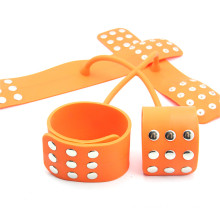 Cross Shape Silicone Handcuffs for Sex Slave Bdsm Sex Toys for Couple