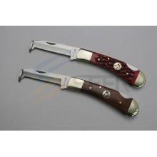 """6.8 """"cuchillo de bolsillo de la manija del hueso del buey con el limpiador del casco (SE-480)"""