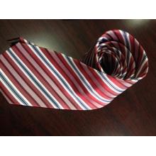 Personalizado Red Stripe Corbatas de seda en Hangzhou