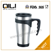 Double wall thermos auto cup with lid