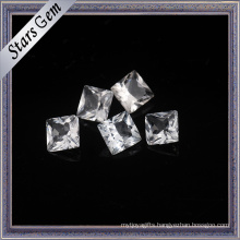 Square Princess Cut Shining Natural White Topaz for Jewelry