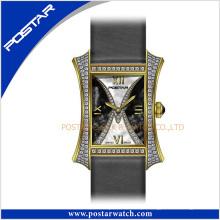 Mais novo relógio de diamantes com números romanos dial unisex fantasia relógio resistente à água