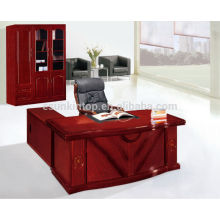 High tech executive office desk specifications with side table