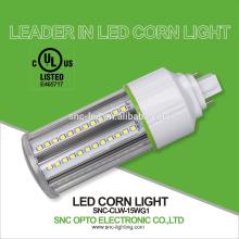 Venda quente UL cUL listados led milho buraco luzes 15 w G24d, G24q milho base de luz lâmpada de cob / lâmpada 15 w luz de milho