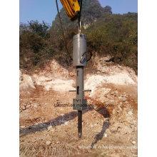 Diviseur de roche hydraulique monté sur pelleteuse