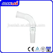Adaptadores de destilação de vidro Joan Lab 105 graus com junção masculina e feminina