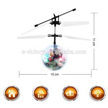 Brinquedo voador para venda indução voador bola helicóptero rc com luz led