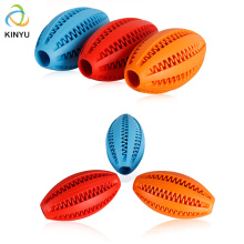 Oral Cleaning Bite Resistant Rubber Pet Dog Training Toys Indestructible Olive Dog Chew Ball