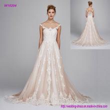 Vestido de boda sin espalda atractivo del hombro