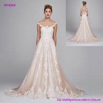 Sexy Backless off Shoulder Wedding Dress