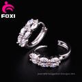 Shining Gemstone Ring Type Earring Design