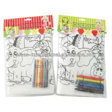 colorearme pp bolsa no tejida con bolsas de mano de crayón