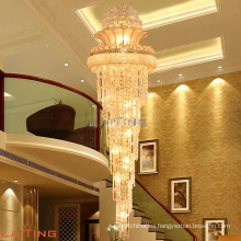 Hot modern pendant crystal lamp hotel long height crystal chandelier pendant lamp for stairs 98113