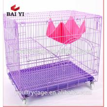 Оптовая цена металлический кот клетка с лоток для разведения кошка