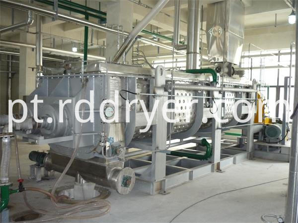 Continuous Operation Polyester Slices Paddle Dryer Machine