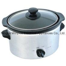 4-cuarto de galón (3,5 litros) Manual olla de cocción lenta, acero inoxidable