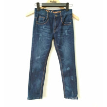 Wholesale Price Hand Brushing Children's Bomull Jeans