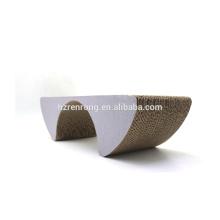Hot selling cheap corrugated cardboard cat scratcher lounge sofa with catnip SCS-7007