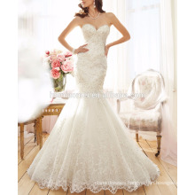 Summer special design sleeveless mermaid wedding dress price with hand heavy bead
