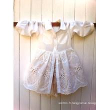 Robe chemise en jersey de dentelle en coton pour enfant en coton pour enfant