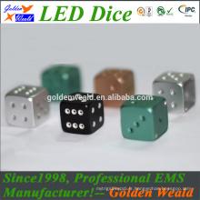 dés d'alliage d'aluminium CNC coloré LED
