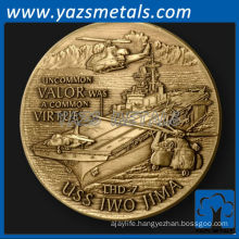 customize metal USS Iwo Jima Naval Ship challenge coin