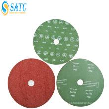 Disco de fibra lijado abrasivo revestido del carburo de silicio de alta calidad