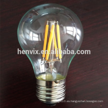 Filament led 4w a19 lámpara de led
