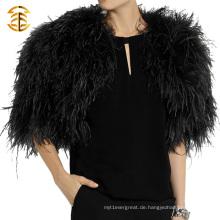2015 Großhandel echte Türkei Pelz Balck Poncho und Schal für Frauen und Männer