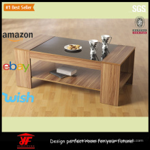 Contemporary Center Wood Tea and Coffee Table