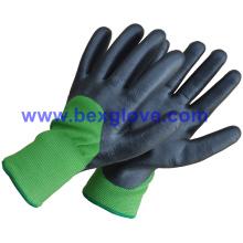 7 калибровочных акриловых термальных вкладышей плюс, 13G нейлоновый внешний вкладыш, нитрильное покрытие, 3/4, перчатка для перчаток