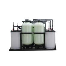 Ablandador de intercambio iónico a base de sal con tanques duales y válvula dual