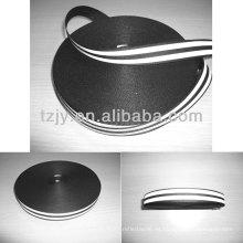 cinta reflectiva negro poliéster 100%