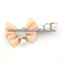 Fashion Girl's Bowknot avec Perles Perles Hair Pins011051945