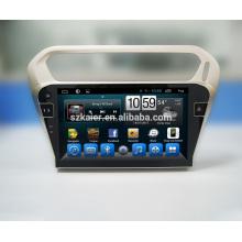 Grand dvd de voiture automatique de radio d'écran pour peugeot 301 / système de navigation de gps d'Elysee Android 7.1