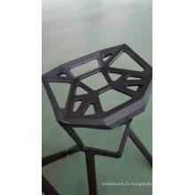 En gros pas cher bonne qualité vente chaude empilable créatif design chaise de requin en plastique tabouret