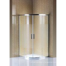 Écran de douche en verre simple de clôture de douche