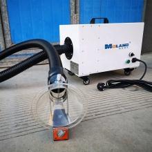 grind the vacuum equipment