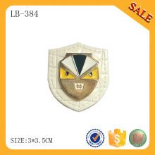 LB384 Декоративная одежда патч джинсы кожаный патч пользовательских металл логотип кожаный патч для пальто