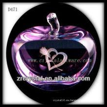 K9 3D Laser Love dentro de Pink Crystal Apple