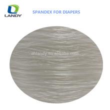 Meilleur prix bébé couche-culotte matériel spandex fil nu spandex pour couche polyester Spandex fil