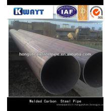 ERW soudé en acier à faible teneur en carbone carbone et tube pour la construction