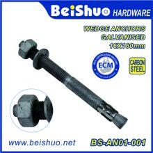 Boulon d'ancre galvanisé en acier au carbone 16 X 160 mm