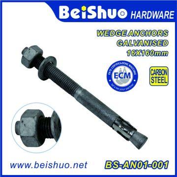 16 X 160 мм Углеродистая сталь оцинкованный клиновой анкерный болт